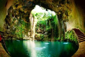 Lagoon Style Pool Inside Cave