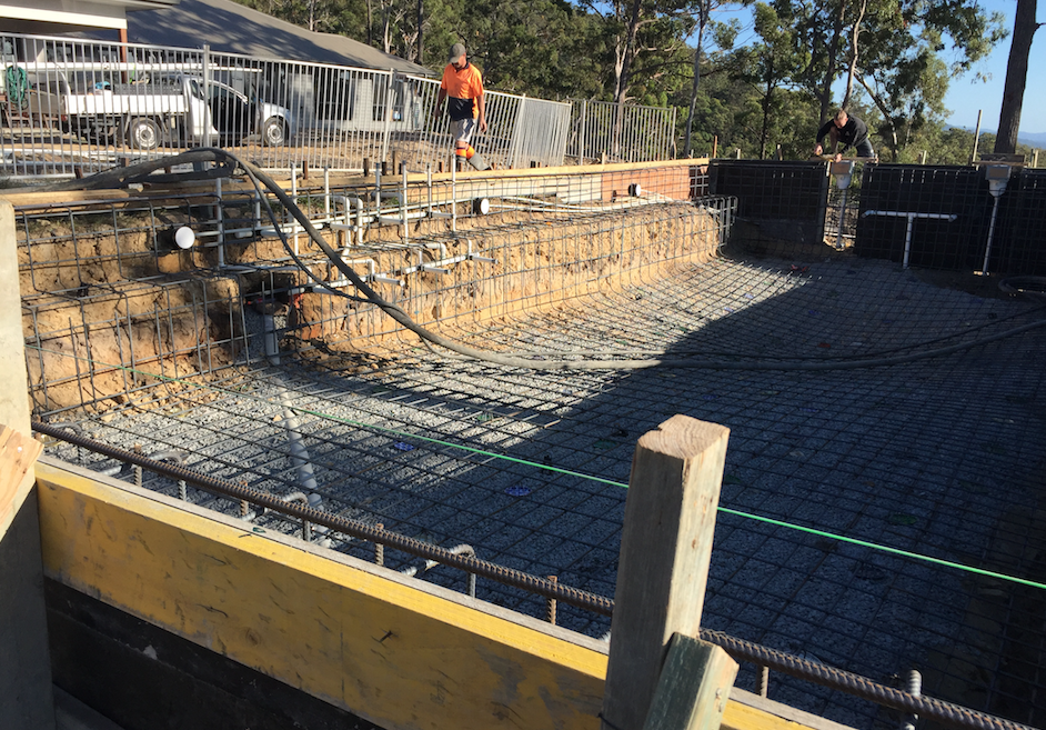 pool ready to be concreted in North Brisbane