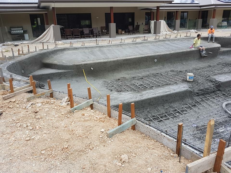 Pool almost concreted in North Brisbane