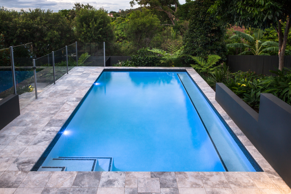 Swimming pool with beautiful lighting choice